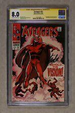 Avengers (1963 1st Series) 57 CGC 8.0 SS Stan Lee 1323110009