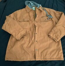 Men's Dickies Jacket Quilted Lining sz. 2XL Brown Cotton/Polyester