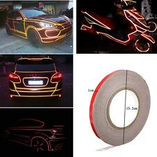 Red 1cm x 150feet Reflective Sticker Tape Car truck Body Stripe vinyl DIY - NEW