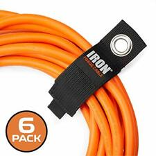 Extension Cord Wrap Organizer, 6 Pack of Storage Straps - Large 13.25 Inch Hook