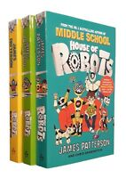 House of Robots James Patterson 3 Books Kids Children Go Wild Revolution New