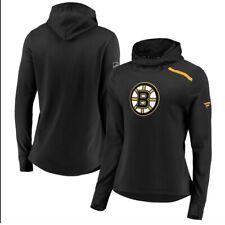 Fanatics Boston Bruins Black Authentic Pro Women's Black Pullover Hoodie Sz S