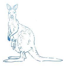 Sunburnt Country Kangaroo Mini Stamp - Couture Creations