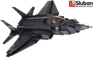 Sluban B0510 Lightning II Fighter Plane Aircraft Military Building Bricks Blocks
