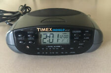 Timex Indiglo Night Light T433B Alarm Clock AM/FM Radio w/Battery Back Up WORKS!