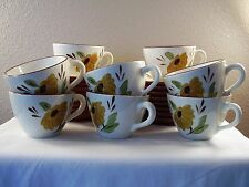 STANGL USA Art Pottery FIRST LOVE Cup SAUCER Dessert PLATE 24 Pieces SET FOR 8