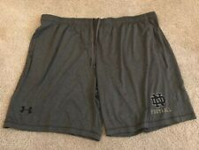 NWT UNDER ARMOUR LOOSE TEAM ISSUED NOTRE DAME FOOTBALL SHORTS 4XL