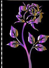 Password /Web Address Book Metallic Rose