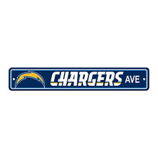 "New San Diego Chargers AVE Street Sign 24"" x 4"" Styrene Plastic Made in USA"