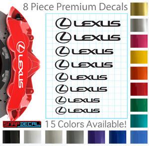 8 Lexus Decal Vinyl Stickers for Brake Caliper - 751 Heat Resistant - 4 Sizes