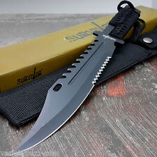 13 Tactical Survival Rambo Full Tang Fixed Blade Knife Hunting W/ Sheath
