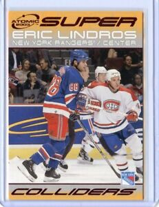 Eric Lindros - 2002-03 Atomic Super Colliders #10 RED Rangers