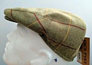 Jack Pyke Wool Blend Flat Cap Peaky Classic Countryman Hunting Mens size 61cm