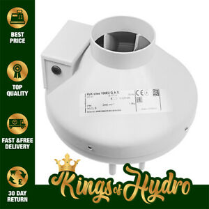 Systemair RVK Sileo Inline Duct Exhaust Fan Hydroponics ALL SIZES