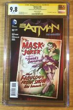 Batman 32, DC Bombshell, New 52, CGC 9.8 2X SS, signed Snyder and Capullo, NM/MT