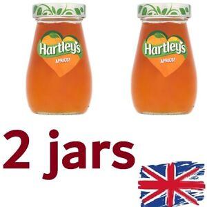 FRESH UK STOCK-2 x Hartleys Apricot Jam 340g Jar Conserve Preserve Jelly
