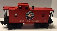Lionel O Scale Railroad Red Caboose Train Car aith Interior Lighting