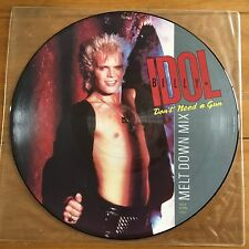 "Billy Idol - Don't Need A Gun 12"" Picture Disc Vinyl"
