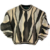 Vintage Tundra Canada Men's Sweater Multi-Color Large Hip Hop