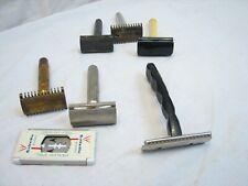 Lot Vintage Safety Razors Gillette Tech Long Comb Durham Duplex Shaving