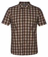 Hurley Men's Charlie Button Up Shirt - Brown/Light Cream