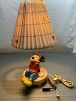Vintage Mickey Mouse Lamp. Dolly Toy Co. With Walt Disney Shade
