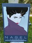 Vintage 1985 Patrick Nagel the Book Poster Art Print Great 1980s Imagery