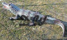 KROKODIL ALLIGATOR lebensgroß 207 cm Garten Deko Teich Tier Figur Kroko WILDTIER