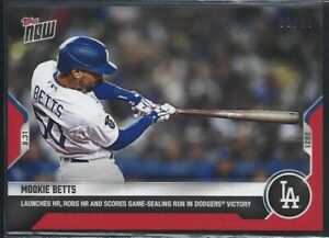 2021 TOPPS RED PARALLEL # 740 MOOKIE BETTS Los Angeles Dodgers LE 01/10