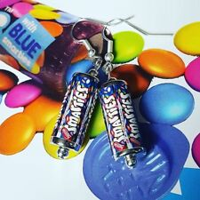 Unique SMARTIES EARRINGS handmade CHOCOLATE candy RETRO rainbow MIXED UP DOLLY
