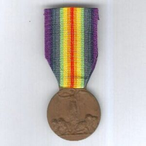 ITALY. Victory Medal 1914-1918 by Stefano Johnson of Milan (Official Type 2)