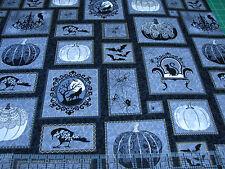 3 Yards Quilt Cotton Fabric - Henry Glass Spellbound Halloween Patch Metallic
