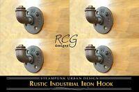 4-pack! Industrial Pipe Knob Hook B urban steampunk rustic decor