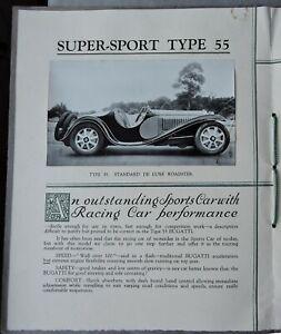 Bugatti brochure