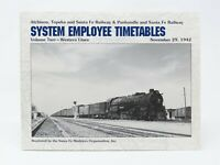 ATSF System Employee Timetables Volume Two-Western Lines November 29, 1942