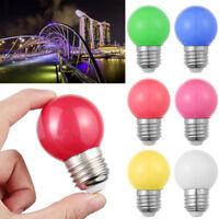Colorful E27 1W 220V Energy Saving Round LED Golf Ball Light Bulb Globe Lamp~