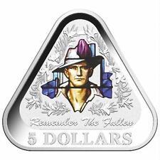 AUSTRALIA 2016 REMEMBER THE FALLEN - $5 TRIANGULAR FINE SILVER PROOF COIN - NEW