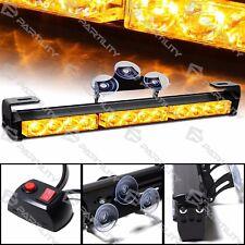 14 inch LED Amber Light Emergency Warning Strobe Flashing Yellow Bar Security