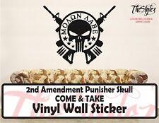 2nd Amendment Punisher Skull - Come & Take Vinyl Wall Sticker