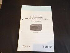 Originaö service Théorie Sony ta-h5600 h6600 DSP