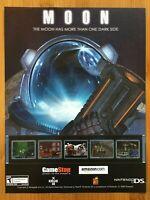 Moon Nintendo DS 2009 Vintage Poster Ad Print Art Promo FPS Space Sci-Fi RARE