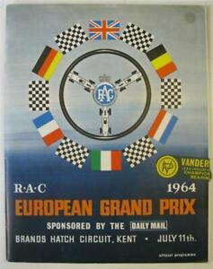 BRANDS HATCH 11 Jul 1964 European Grand Prix LF Official Programme + Race Card