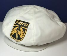 Vintage Pontiac FIERO Snap Down Front Hat White Snap Back Made in USA SEE PICS