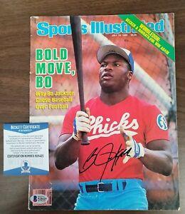 Bo Jackson SignedSports Illustrated July 14, 1986 Beckett N28425