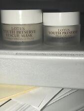 Fresh Lotus Youth Preserve Rescue Mask (.5oz) & Face Cream (.24oz) New