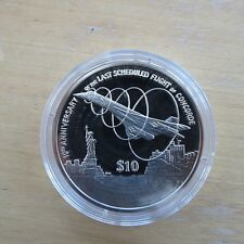 2013 Concorde $10 Silver Proof Coin 10th Anniversary of Last Scheduled Flight