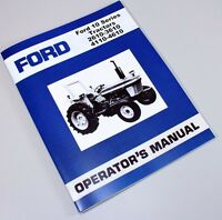FORD 2610 3610 4110 4610 TRACTOR OWNERS OPERATORS MANUAL MAINTENANCE