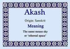 Akash nome personalizzato significato certificato