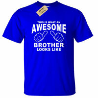 KIDS BOYS GIRLS Awesome BROTHER T-Shirt Funny birthday gift big little present