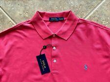 Polo Ralph Lauren Mesh Shirt Mens 4XLT Spring Red wBlue Pony $98 Classic Fit NWT